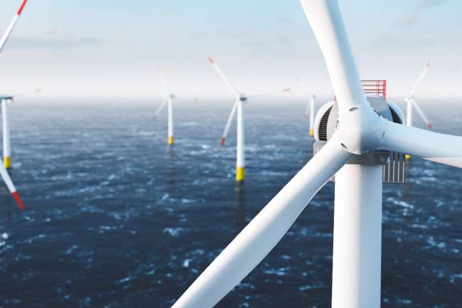 Offshore-Windpark auf hoher See